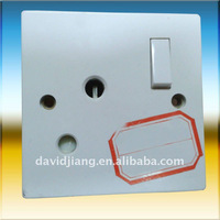15A 1G wall switch with socket/ 1 gang socket switch