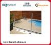 Semi Frameless Round Aluminum Post For Glass Fencing