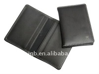 antibacterial high-quality genuine leather card holder/wallet