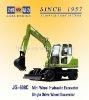 43KW/58HP JG608C 6 Ton Single Drive Mini Wheel excavator