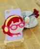 for iphone 4/4s durable cartoon plastic case with mirror cell phone case
