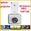 640*240 LCD Projector Built-in 2w Speaker For Iphone