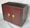Leather archaized boxes