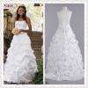 1112-1hs latest design White A-Line Strapless Taffeta Banding Fold bridal wedding gown