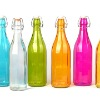 Color sprayed glass bottle with airtight stopper,glassware