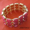 Rose square cut acrylic stone bracelet 2012