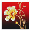100% handmade embossed 3d simple flower oil painting