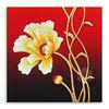 100% handmade embossed 3d simple flower oil painting