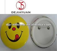 Loverly yellow smile tin pin