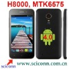 4.0 inch touch screen Android 4.0 os MTK6575 cpu WCDMA 3G smartphone H8000
