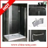 8mm laminated glass safety glass shower enclosures