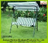 Outdoor furniture patio swing chair with double seat