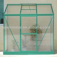 perfect polycarbonate & aluminium lean-to exit easily greenhouse kits HX64313G