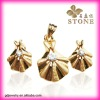 2012 gold plated terne metal jewelry sets for women