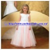 full length sleeveless children long dresses wholesale with tulle ball gown YBFD-0096