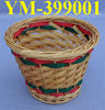 Decorative Colored Christmas Wicker Gift Basket without Handle