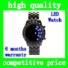 HOT Sell Unisex Classic Design fashion Digital Red LED Metal Lava Samurai Bracelet Metal Alloy Wrist Watch