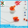 2012 popular and excellent and sweet cartoon noise cancelling earphones