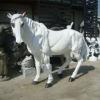 White Vivid Horse Fiberglass Park Sculpture
