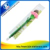 offer plastic ball pen,ball pen toppers with flower