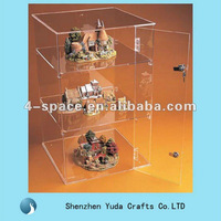 Lockable acrylic display case