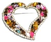 Fashion Rhinestone Heart brooches Manufaturer