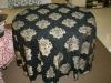 Euro Style Large Decorative Flower Pattern Jacquard Table Skirt