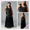 2186-1hs 2012 New One Shoulder with Flower Sweetheart Black taffeta maternity Floor Length bridesmaid dresses