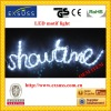LED rope light with English word-show time,with high quality,decorate on Christmas Day or other Festival Day