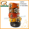 Penetration Dyeing Punk Stud Style Leather Bracelet 030661