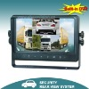 9 inch lcd bus monitor built-in dvr with quad-view for car