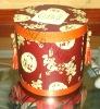 fabric round box