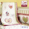 100% cotton baby bedding set with carton