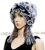 CX-C-34A Handmade Rex Rabbit Flower Fur Caps and Hats