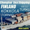 Shanghai/China to FINLAND sea shipping/FCL/LCL, Shanghai/China to TORNIO, OULU, KOKKOLA, TURKU sea shipping/FCL/LCL