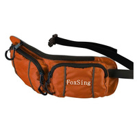 large space polyester zipper waist bag