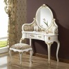 White dresser and stool