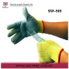 SW506-kevlar anti cut cow split leather glove