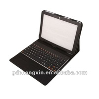Rotatable leather case with bluetooth keyboard for the new iPad
