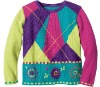 stylish design girls jacquard pullover sweater