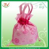 2012 new style drawstring gift bag pink color
