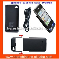 1900mah External Battery Back Cover for iphone 4/4s