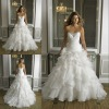 Drop shipping generous ruffled beaded sweetheart organza bridal wedding gowns 2013