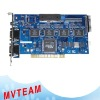 4CH Real Time Software Compression DVR card
