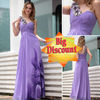big discount purple one shoulder evening formal dresses