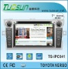 touch screen two din car pc for TOYOTA VERSO