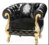 classical wood carved golden frame sofa chair