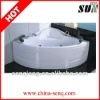 SUN033 145*145*58cm whirlpool massage bathtub spa bathtub