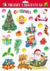 Multicolored Christmas decor sticker