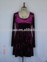 Velvet lady's wear